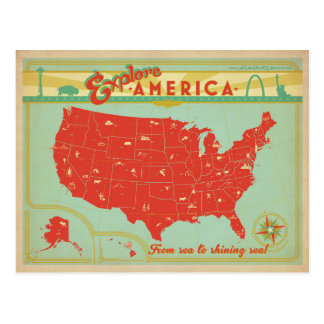 United States | From Sea to Shining Sea Postcard