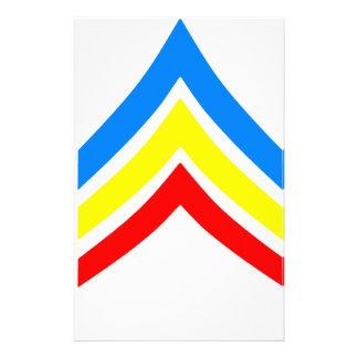 United States Gay Sergeant Stripes Custom Stationery