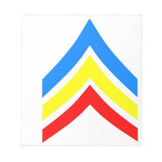 United States Gay Sergeant Stripes Notepad