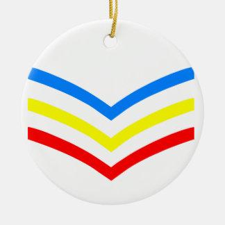 United States Gay Sergeant Stripes Round Ceramic Decoration