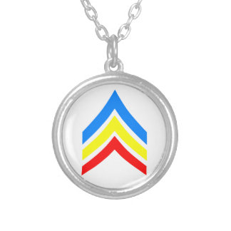 United States Gay Sergeant Stripes Silver Plated Necklace