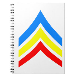 United States Gay Sergeant Stripes Spiral Notebook
