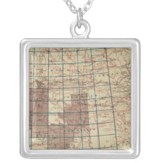 United States Geographical Surveys Silver Plated Necklace