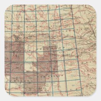 United States Geographical Surveys Square Sticker