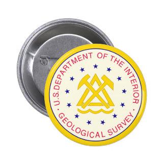 United States Geological Survey 6 Cm Round Badge