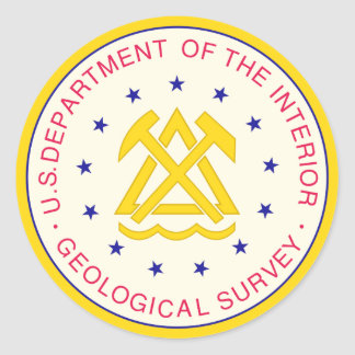 United States Geological Survey Classic Round Sticker