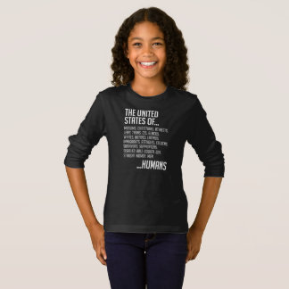 United States Girl's Dark Long Sleeve T-Shirt