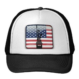 United States glossy flag Cap