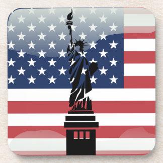 United States glossy flag Coaster
