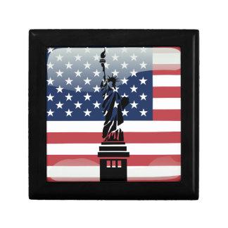 United States glossy flag Gift Box