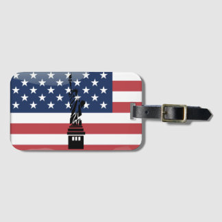 United States glossy flag Luggage Tag