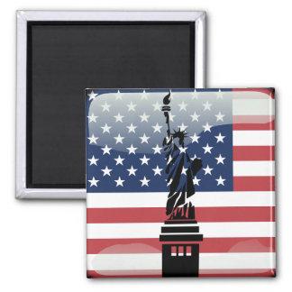 United States glossy flag Magnet