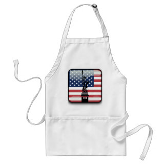 United States glossy flag Standard Apron