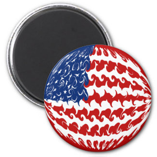 United States Gnarly Flag 6 Cm Round Magnet