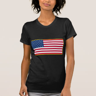 United States Gold Fringed Admiralty Maritime Flag Tee Shirt