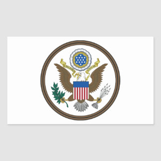 United States Great Seal Rectangular Stickers