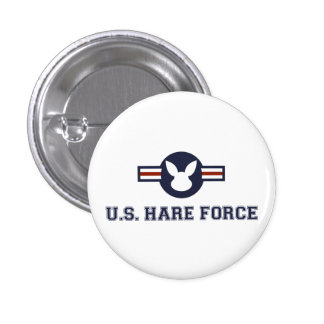 United States Hare Air Force Bunny 3 Cm Round Badge