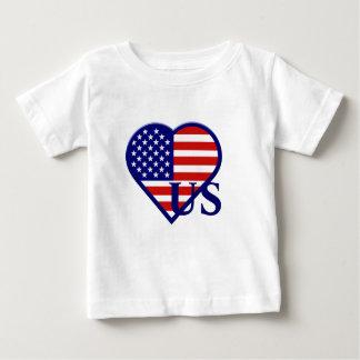 United States Heart Flag US Infant T-shirt