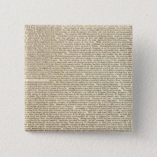 United States History Map 2 15 Cm Square Badge