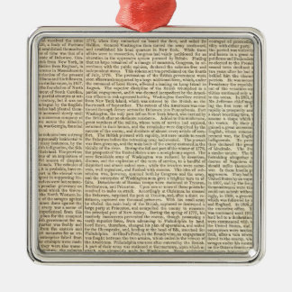 United States History Map 2 Christmas Ornament