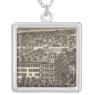 United States Hotel, Atlantic City, NJ Silver Plated Necklace
