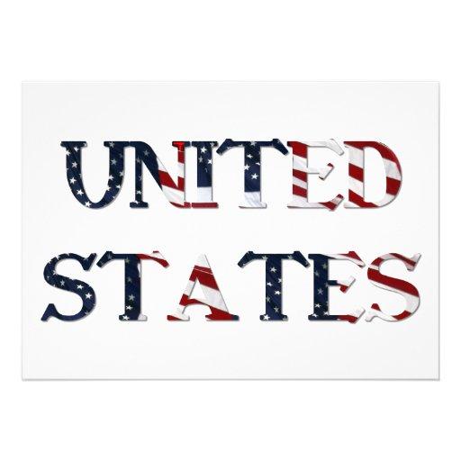 United States Custom Invitation