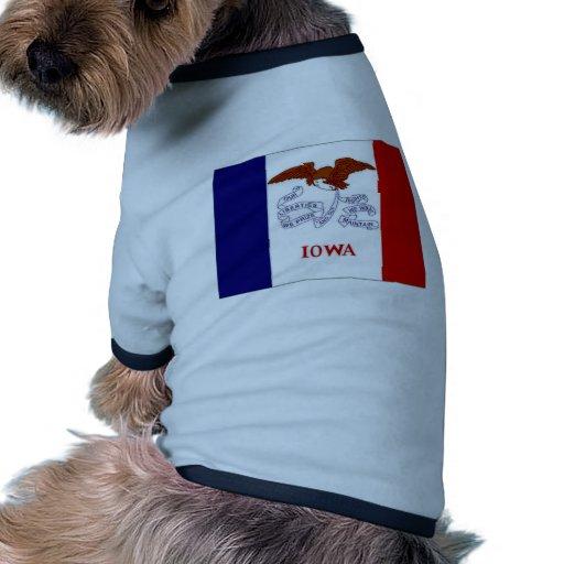 United States Iowa Flag Pet T Shirt