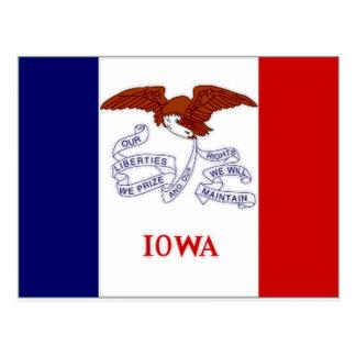United States Iowa Flag Postcard