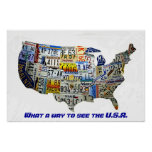 United States License Plate Map Print
