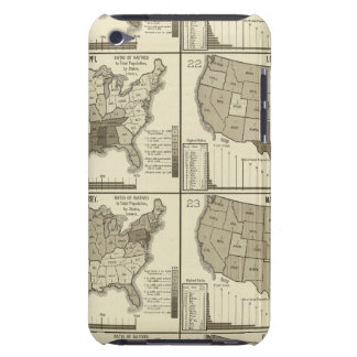 United States lithographed maps 2 Barely There iPod Cases