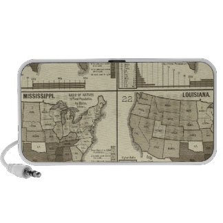 United States lithographed maps 2 iPhone Speaker