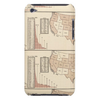 United States lithographed maps Barely There iPod Case