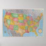 United States Map 3 Print