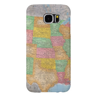 United States Map 3 Samsung Galaxy S6 Cases