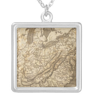 United States Map by Arrowsmith Silver Plated Necklace