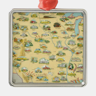 United States Map Christmas Ornament