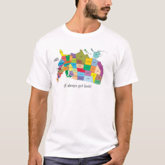 United States Map (I always get lost) T-Shirt
