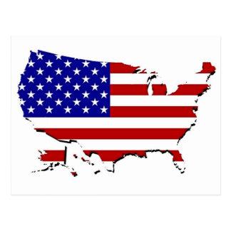United States Map Stars-N-Stripes Flag Post Cards