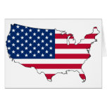 United States map US Greeting Card