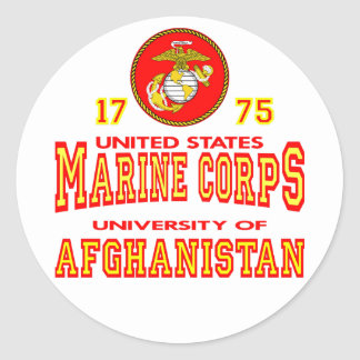 United States Marine Corps University Afghanistan Stickers