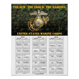 UNITED STATES MARINES POSTER
