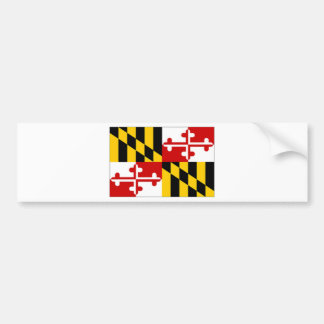United States Maryland Flag Bumper Sticker