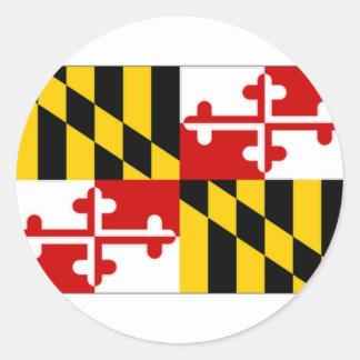 United States Maryland Flag Classic Round Sticker