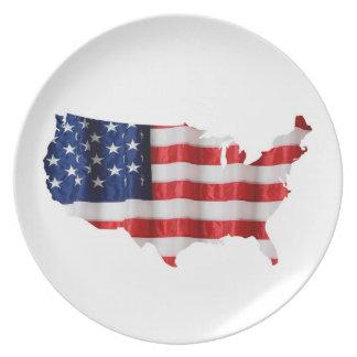 United States Melamine Plate
