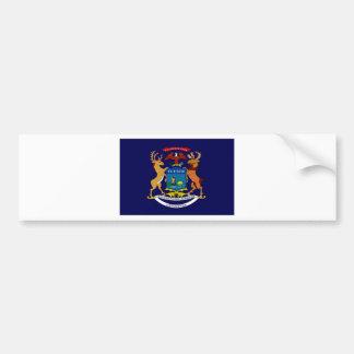 United States Michigan Flag Bumper Stickers