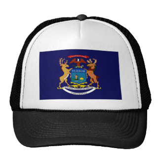 United States Michigan Flag Trucker Hat