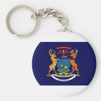 United States Michigan Flag Key Chains