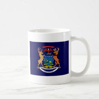 United States Michigan Flag Coffee Mugs