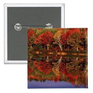 United States, Michigan, Upper Peninsula. Fall Pinback Button