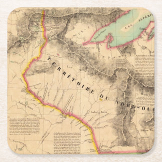 United States Mid west 41 Square Paper Coaster